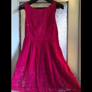 Fuchsia Anthropologie Lace Dress